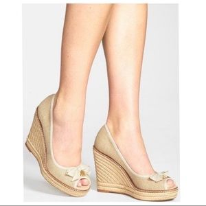 Tory Burch Jackie Espadrille Wedges